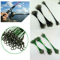 72pcs Fishing Trace Lure Leader Wire Steel Spinner Swivel Tackle Line Leash Tool