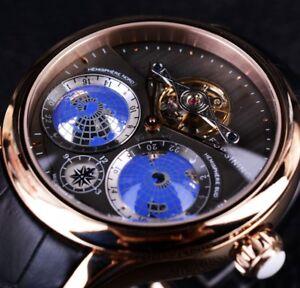 Tourbillion Automatic Mechanical Men's Wrist Watches Luxury Swiss Men Wristwatch