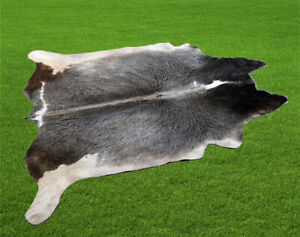 "New Cowhide Rugs Area Cow Skin Leather19.13  sq.feet (54""x51"") Cow hide U-7010"