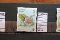 STAMPS SOLOMON ISLANDS FLOWERS MNH** (F102989)