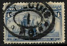 """Sc #233 """"Saint Louis"""" Town CDS Fancy Cancel SON 4 Cent Columbian 1893 US 85B41"""