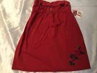 Betsey Johnson Red Strapless Dress Coverup Swim Bathing Suit XS S SMALL Bikini