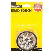 2x Headtorch 9 LED Bulbs - Camping Flashlight Super Bright Torch