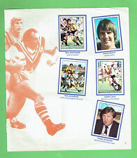 #T19. 1983 RUGBY LEAGUE SCANLENS STICKERS - BALMAIN TIGERS / CANT. BULLDOGS