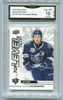 2018 Alexis Lafreniere Upper Deck CHL Top Level Talent Rookie Gem Mint 10 #TL10