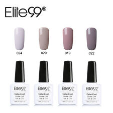 Elite99 UV LED Gel Smalto per Unghie Color Nude Semi Perma Kit 4 Colori 10ml