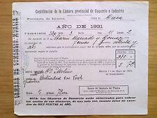 DOCUMENTO CONTRIBUCION MUNICIPAL MURCIA.CIEZA,1931