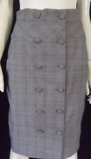 HONEY & BEAU Womens Grey checked straight Skirt size 8