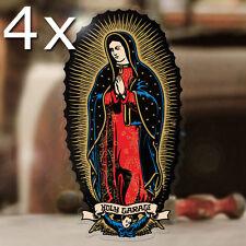 4x pièce Holy garage sticker autocollant autocollante virgin de Guadeloupe 60mm
