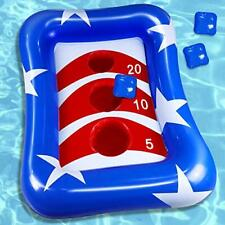 """New listing iGeeKid 36"""" Inflatable Pool Ring Toss Games American Flag Swimming Pool Toys ."""