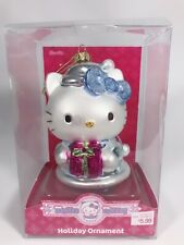 Hello Kitty 5-Inch Glass Ornament Light Blue