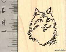 Main Coon Cat Portrait Rubber Stamp G14014 WM