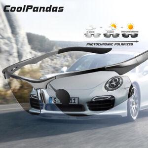 Driving Photochromic Polarised Sunglasses Men Aluminum Day Night Coolpandas