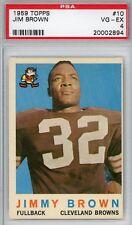 1959 Topps Football 10 Jimmy Brown HOF Cleveland Browns PSA VG-EX 4
