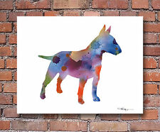 New ListingBull Terrier Contemporary Watercolor Art Print by Artist Djr