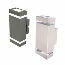 LED Outdoor Up Down Wall Light Charcoal or Stainless Steel Brilliant Lighting