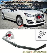 ST-Style Front Lip (Urethane) Fits 15-16 Subaru Impreza Base 4/5dr