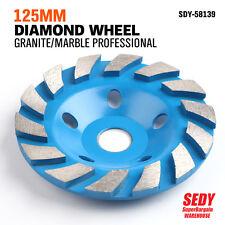 "5"" 125mm Diamond Segment Grinding Concrete Cup Wheel Disc Granite Stone"