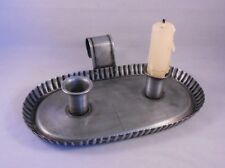 Ol' Taper Holder, Metal Vintage-Style Double Taper Candle Holder with Handle