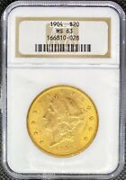 1904 • $20 American Gold Double Eagle Liberty Head • MS-63 NGC •  MINT US Coin!