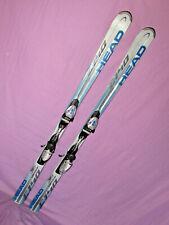 HEAD C140 Lightning all mtn skis 163cm w/ Tyrolia SL10 adjustable ski bindings ~