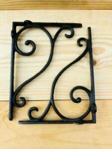 8 Antique Style Shelf Brace Wall Bracket Cast Iron Brackets Corbels Plant Hook