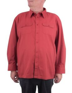 Maracheno Twill Shirt, Red, XXL-8XL
