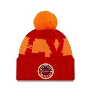 Tampa Bay Buccaneers Red NFL New Era Bobble Beanie Hat | New w/Tags | Top Brand