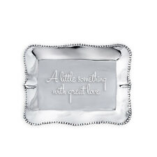 Beatriz Ball Giftables Pearl Rect Engraved Tray