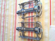 STUNNING A+COND CAMPAGNOLO GRAN SPORT LOW WEIGHT ALLOY CAGE PEDALS NOS DUST CAPS