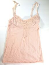 WOMEN'S ABERCROMBIE & AND FITCH XSMALL XS PINK CAMI BEADED TANK TOP SHIRT