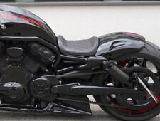 CUSTOM - SITZ HARLEY NIGHT ROD V-ROD MUSCLE USW. NAHT ROTE DIAMANTSTEPPUNG