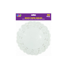 40 x PAPER PARTY WEDDING BIRTHDAY CATERING CELEBRATIONS TABLE WHITE DOILIES