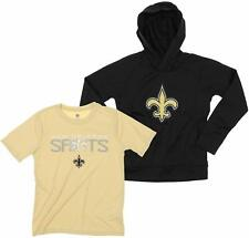 NFL Youth New Orleans Saints Team Performance Hoodie and Tee Combo Set