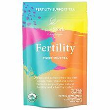 Pink Stork Fertility Tea: Sweet Mint, Raspberry Leaf Tea, USDA Organic, 30 ct
