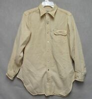 S1120 1950's Farnsby Western Gabardine Weave Mother of Pearl Snaps Yellow Shirt