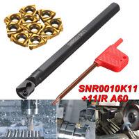 SNR0010K11 Holder Internal Lathe Threading Boring Bar Turning Tool & 10x Inserts