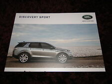 2016 LAND ROVER DISCOVERY SPORT BROCHURE -DISCOVERY SPORT SE-HSE-HSE LUXURY