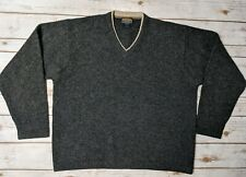 Woolrich Sweater Men's Size XL 85% Wool Long Sleeve Pullover Dark Grey Heather