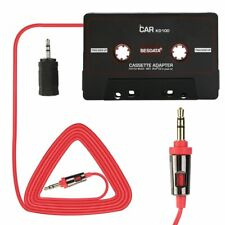 Car Music Audio Cassette Tape Aux Adapter 3.5mm Plug iPhone iPod MP3/4 Player CD