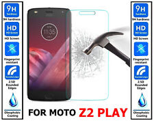 Genuine 100% TEMPERED GLASS Ultra HD Screen Protector For Moto Z2 Play