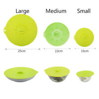 Silicone Boil Over Spill Lid Preservation Pan Cover Oven Safe Stopper Pot Lid