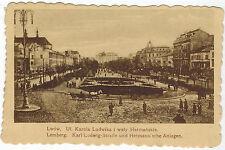 Street of King Ludvig, Lwow/Lwiw, West Ukraine, 1917 German Fieldpost