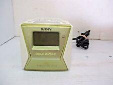 Vtg. Sony Dream Machine Cube AM/FM Digital Clock Radio LIV ICF-C143