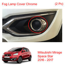 Fog Lamp Light Cover Chrome Trim 2 Pc Fit Mitsubishi Mirage Space Star 2016 - 17