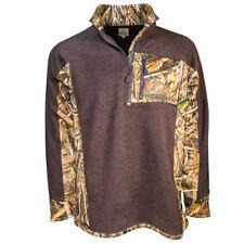 Heybo Hey8704 Cabin Quarter-Zip Fleece - Brown/ Max 5 Size Large
