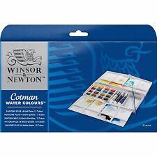 Winsor & Newton Cotman Acqua Colori Pittura Plus Set 16 Half Pentole & 3 TUBI
