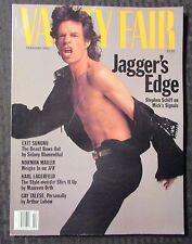 1992 Feb VANITY FAIR Magazine VF- 7.5 Mick Jagger / Roling Stones