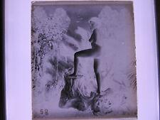 Frau um 1900 Nackt  Glasnegativ  AKT
