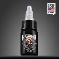 HAWINK Tattoo Ink 1/2 oz 15ml Bottle Tattoo Pigment True Black AUSTRALIAN STOCK
